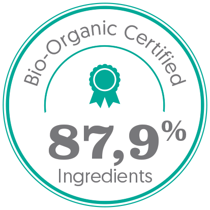 bio, bio certifié, bio 87,9% ingrédients bio