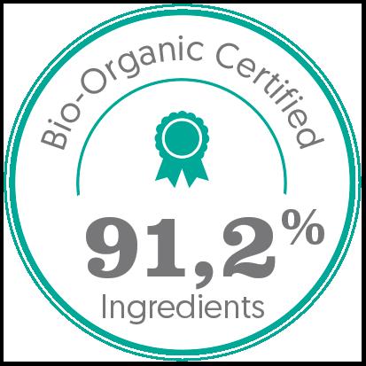bio, bio certifié, bio 91,2% ingrédients bio