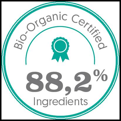 Le fluide buste contient 88,2% ingrédients bio certifiés