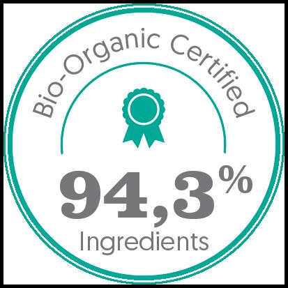 bio, bio certifié, bio 94,3% ingrédients bio