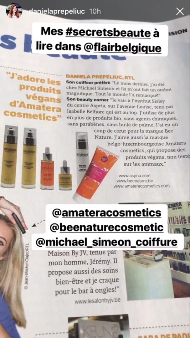 J'adore les produits végans d'Amatera cosmetics