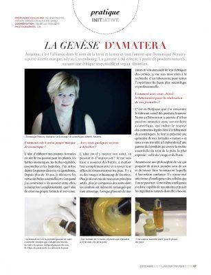 histoire d'Amatera dans Luxembourg Féminin