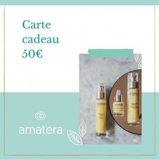 carte cadeau 50 euro Amatera